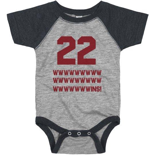 Cleveland 22 Wins Onesie