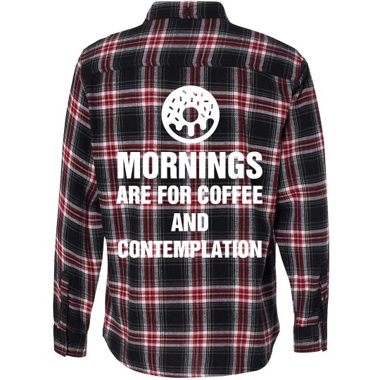 Coffee And Contemplation Flannel