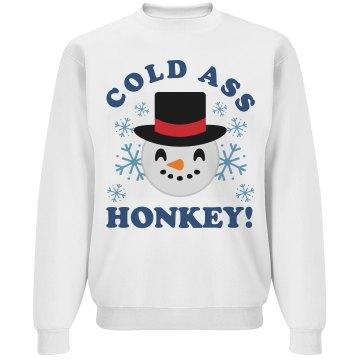 Cold Ass Honkey Snowman Emoji