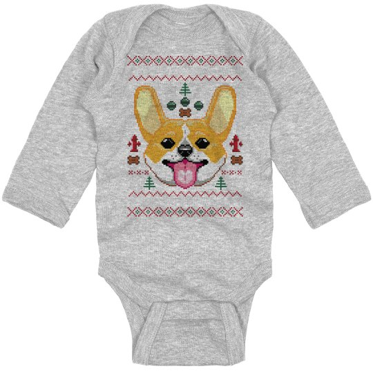 Corgi Ugly Christmas Bodysuit