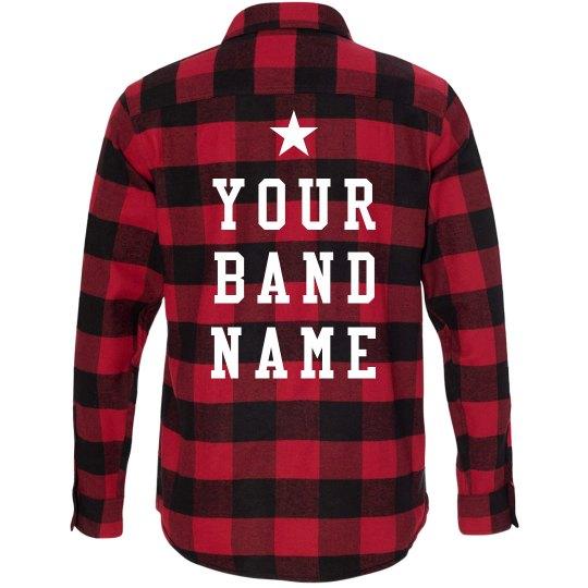 Custom Band Merch Flannel