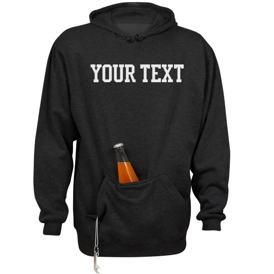 Custom Beer-Holding Pocket Sweatshirt