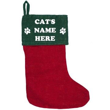 Custom Cat Name Holiday Decor