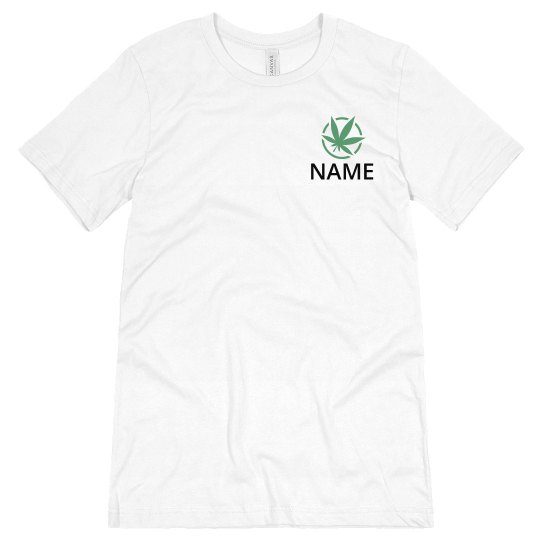 Custom Dispensary Business Leaf Tee