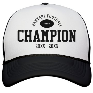 Custom Fantasy Football League Champion Hat