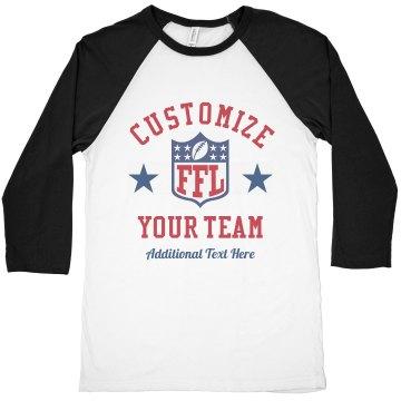 Custom Fantasy Football Team FFL