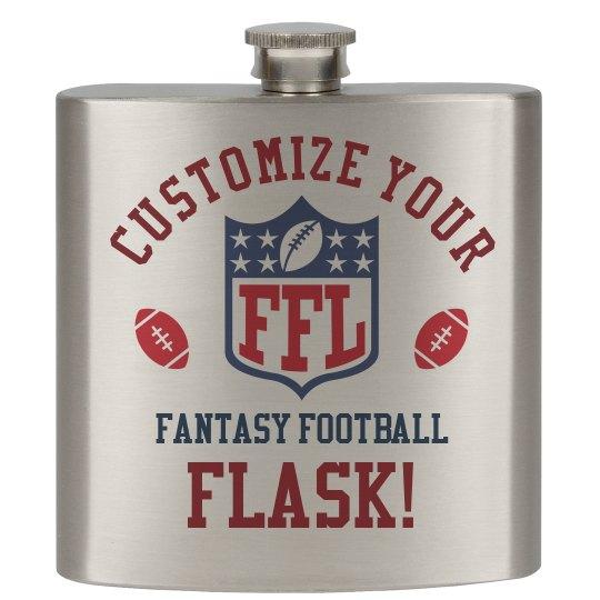 Custom Fantasy Football Team Gift Flask & Accessories