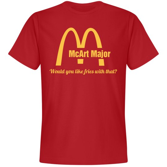 Custom Fast Food Grad Tee