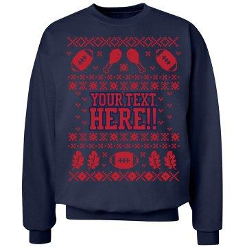 Custom Football Sweater
