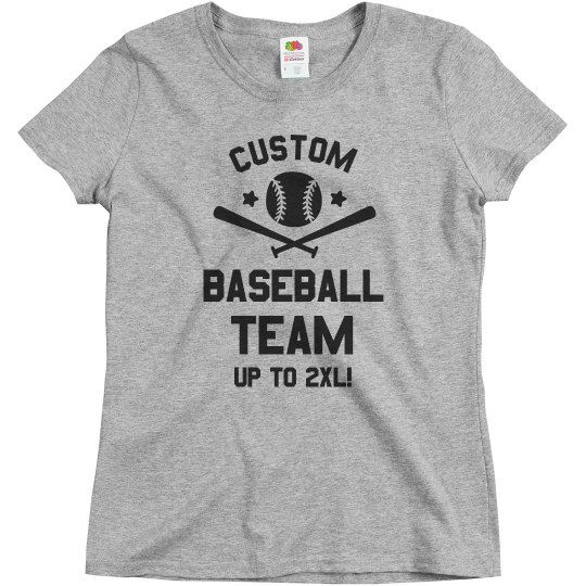 Custom Fun Baseball Team Text