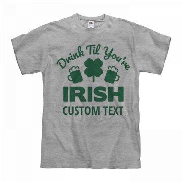 Custom Irish Drinking Shirts