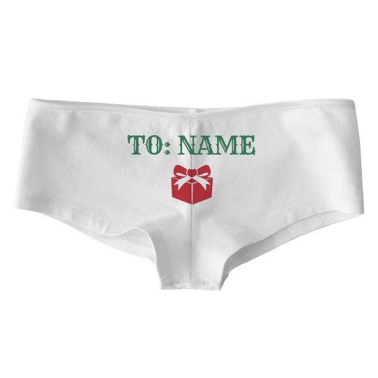 Custom Name Christmas Undies