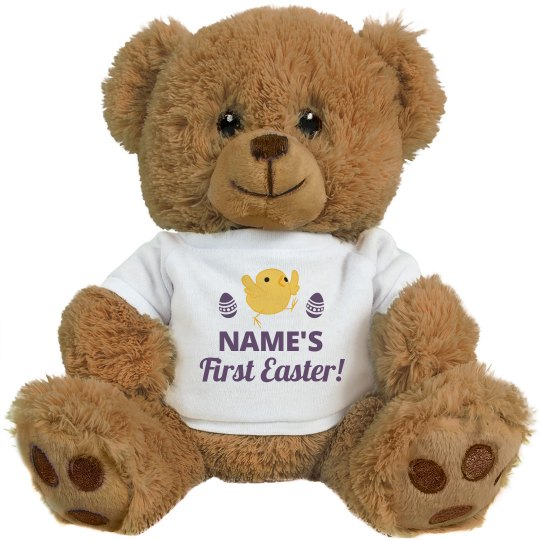 Custom Name First Easter Plush