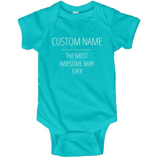 Custom Name Funny Baby Bodysuits