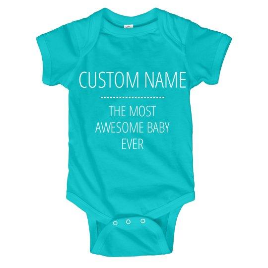 Custom Name Funny Baby Onesies