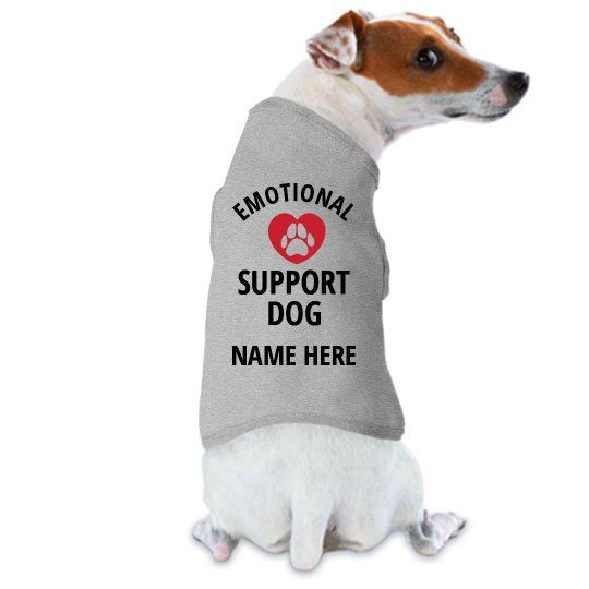 Custom Name Here Emotional Support Dog