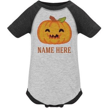 Custom Name Pumpkin Cutie