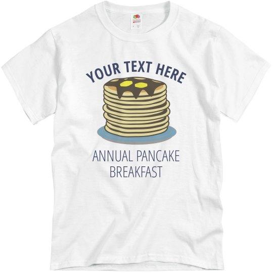 Custom Pancake Breakfast Tee