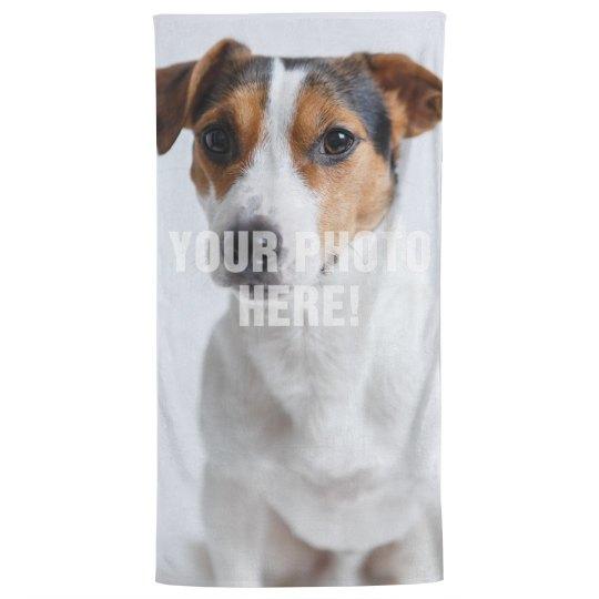 Custom Pet Photo Bath Towel