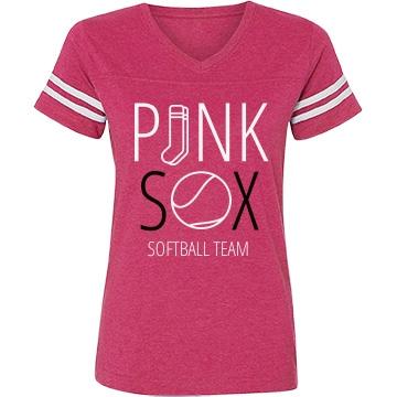 Custom Pink Sox Softball Team Shirt