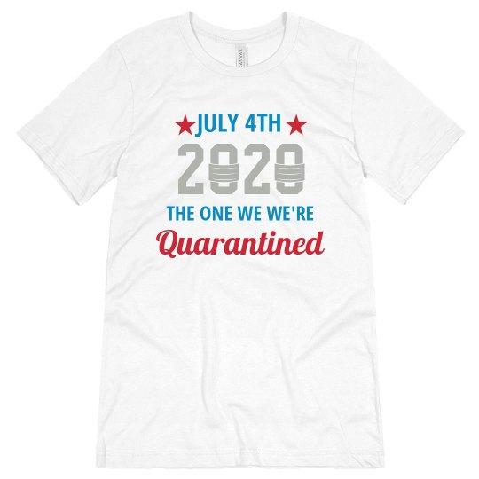 Custom Quarantined July 4th Top