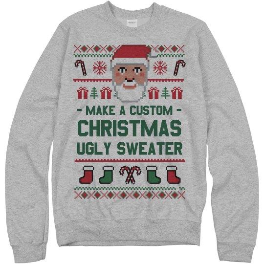 Custom Santa Xmas Sweater