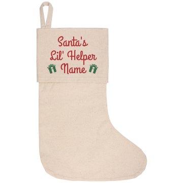 Custom Santa's Helper Stocking
