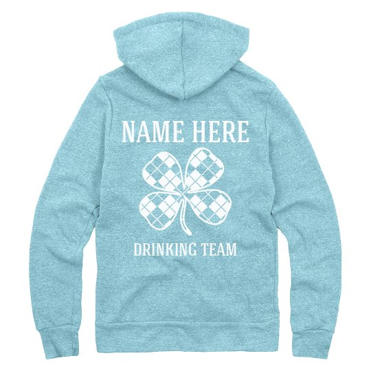 Custom St Pattys Drinking Team