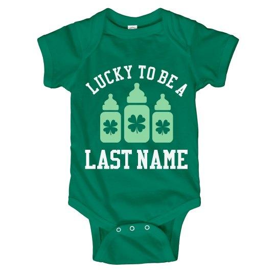Custom St Pattys Last Name Baby