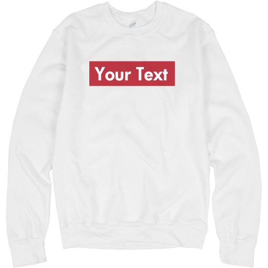 Custom Supreme Style Text Red Rectangle
