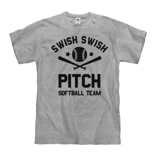 Custom Swish Swish Softball Pitch