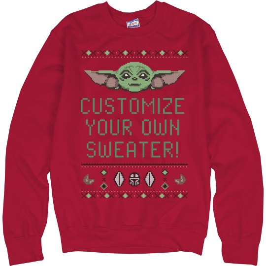 CUSTOM TEXT BABY ALIEN UGLY SWEATER