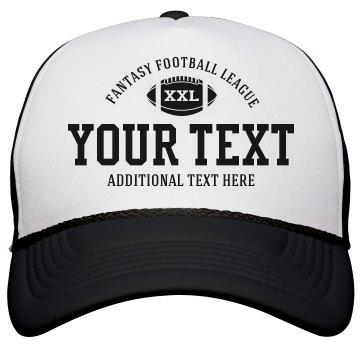 Custom Text Fantasy Football League Hats