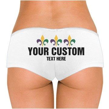 Custom Text Mardi Gras Panties