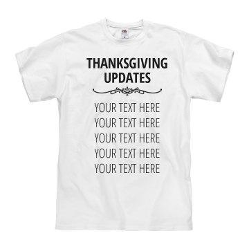 Custom Thanksgiving Update Shirt