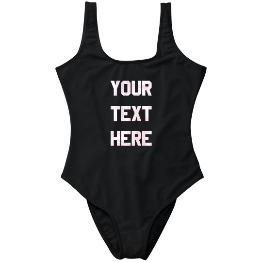 Custom Trendy Spring Break Swimsuit