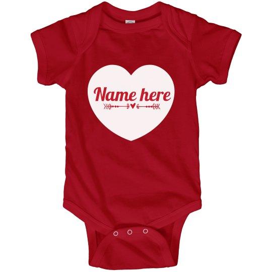 Custom Valentine's Day Onesie Heart