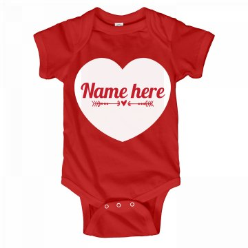 Custom Valentine's Day Onesie Heart