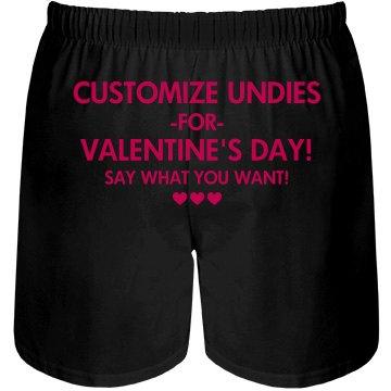 Custom Valentines Undies
