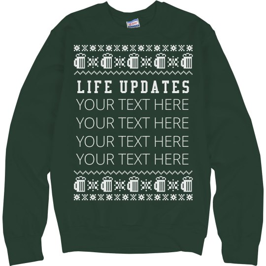 Custom Xmas Beer Sweater