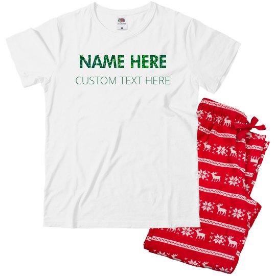 Customizable Christmas Name & Text