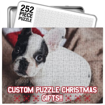 Cute Custom Pet Xmas Puzzle