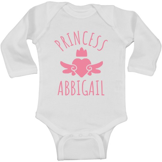 Cute Princess Abbigail Heart Onesie