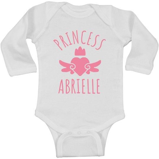 Cute Princess Abrielle Heart Onesie
