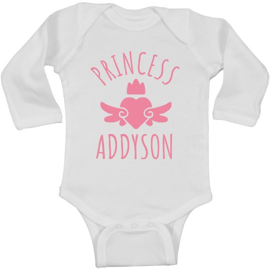 Cute Princess Addyson Heart Onesie