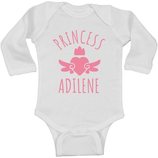 Cute Princess Adilene Heart Onesie