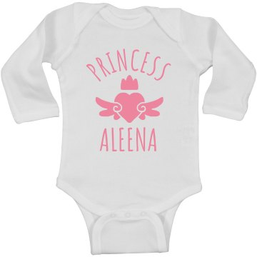 Cute Princess Aleena Heart Onesie