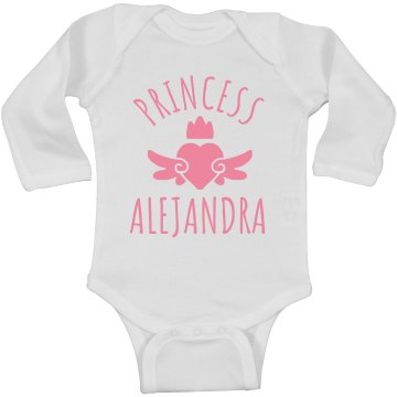Cute Princess Alejandra Heart Onesie