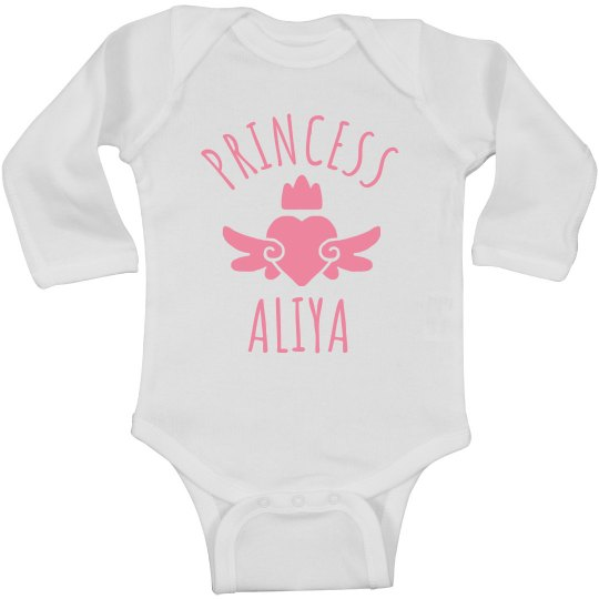 Cute Princess Aliya Heart Onesie
