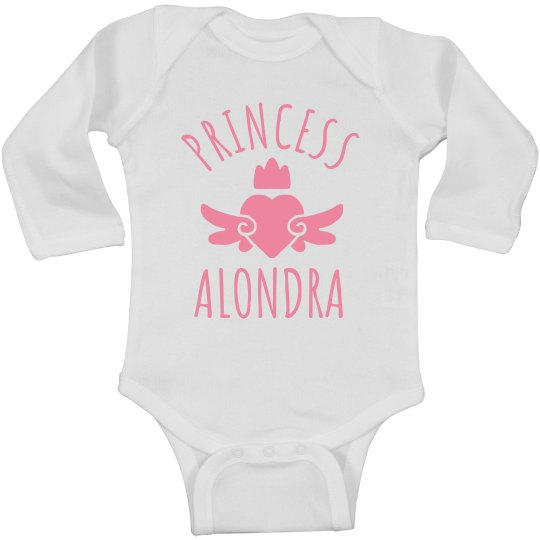 Cute Princess Alondra Heart Onesie